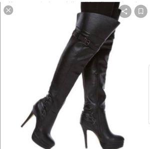 Thigh high platform boot